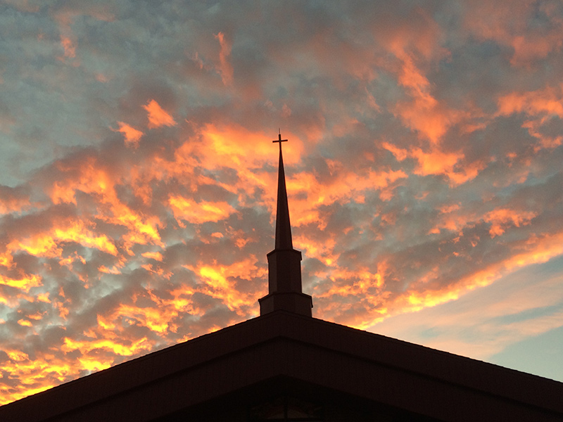 Church-at-sunset